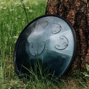 RAV Vast Steel Tongue Drum against tree
